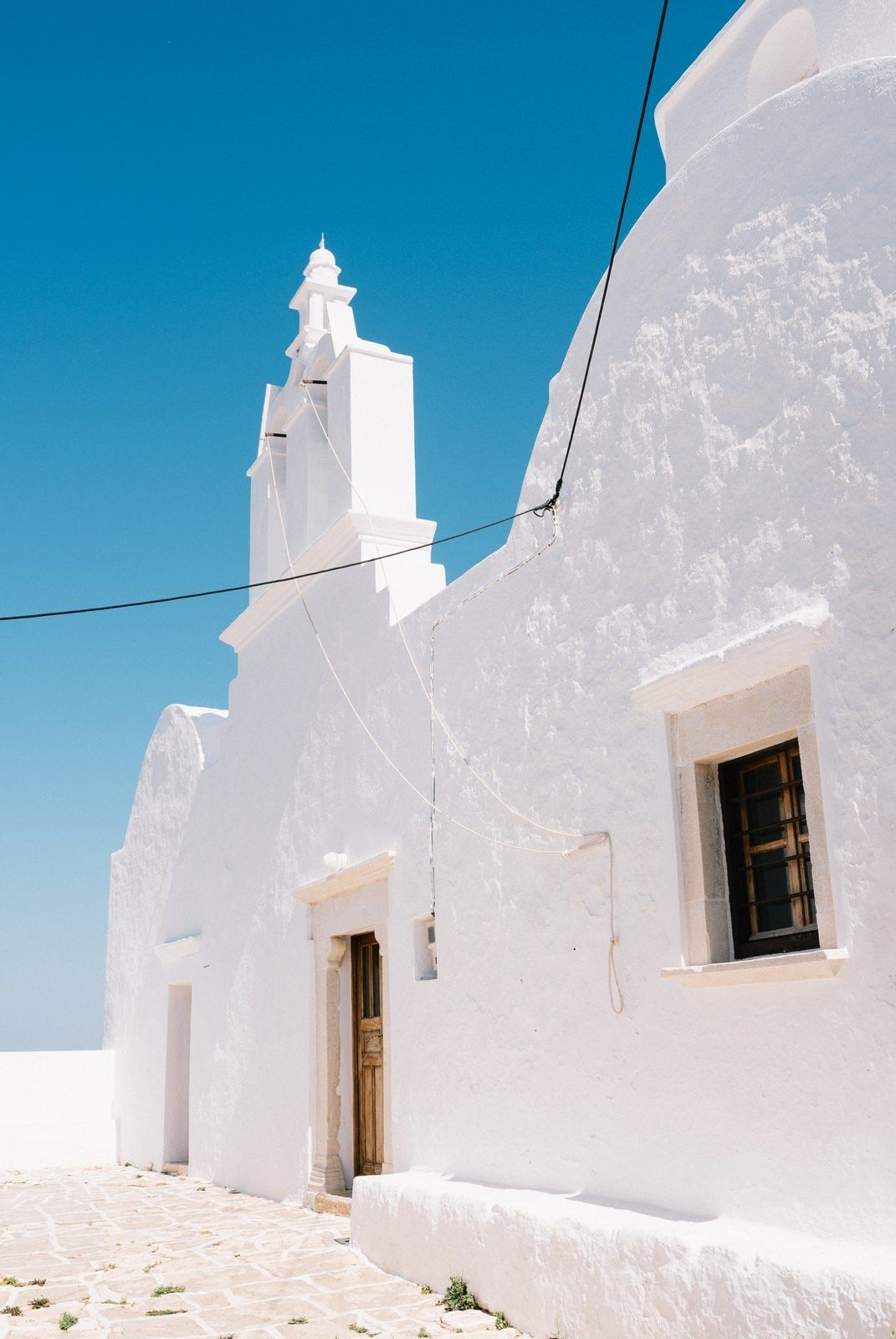 church in folegandros greece
