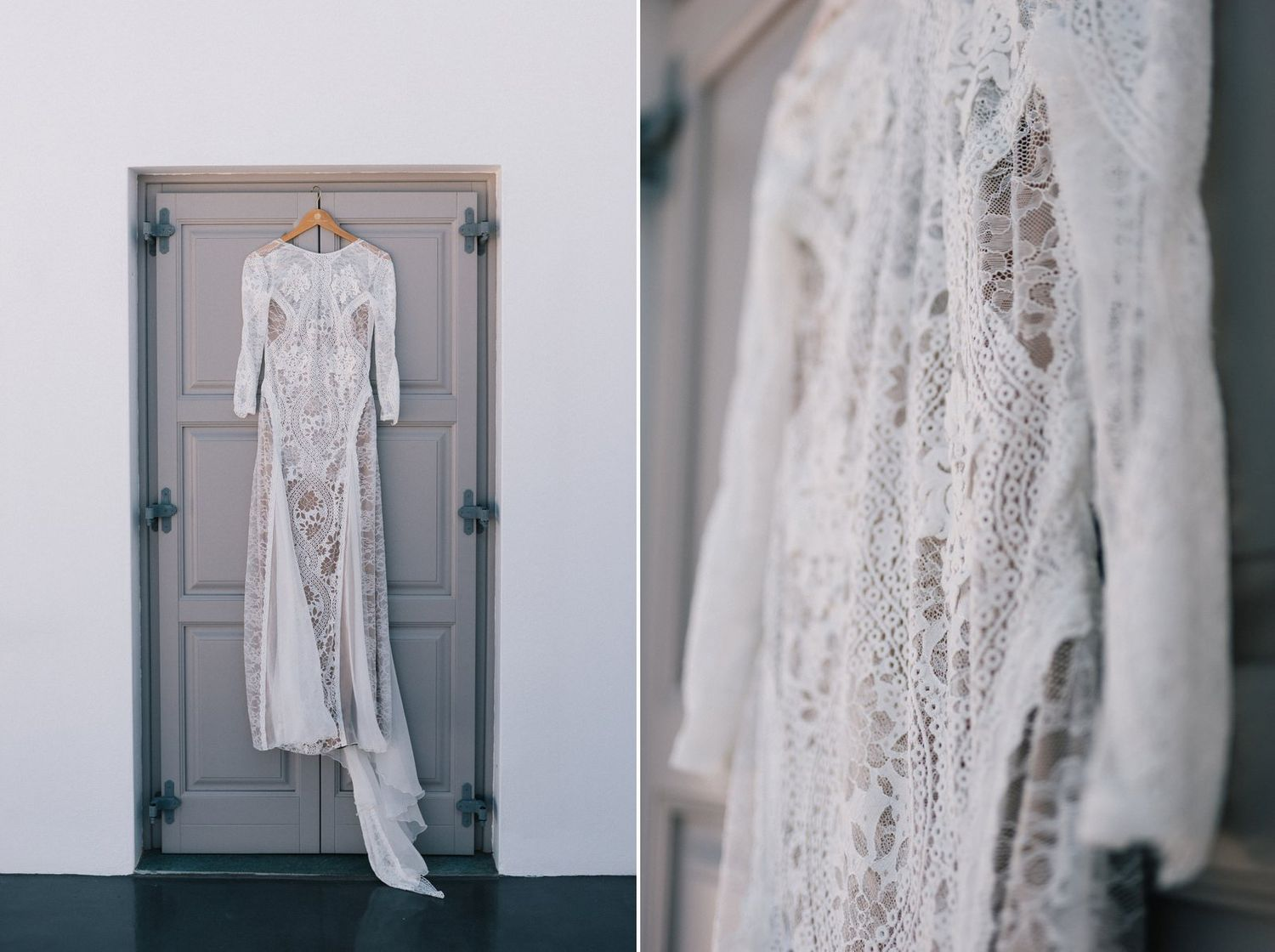 amazing wedding dress from Grace Loves Laces in folegandros