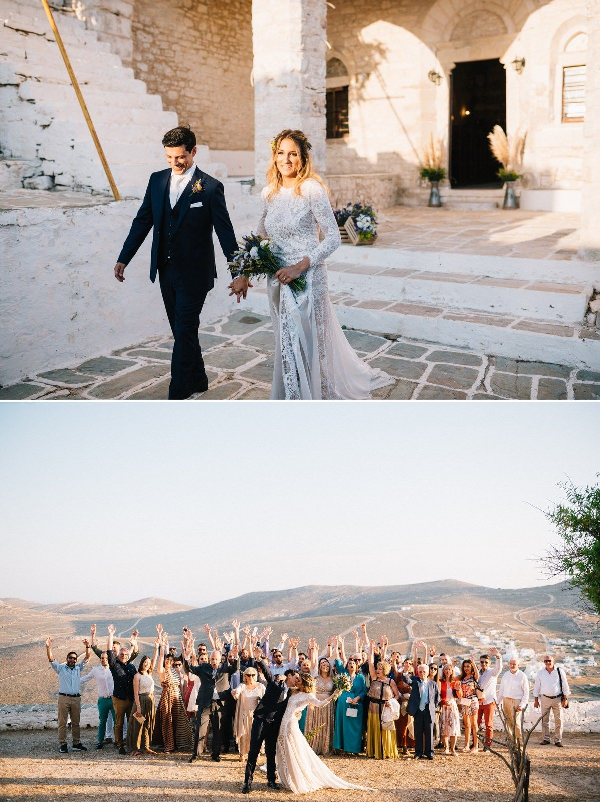wedding guest portrait and folegandros