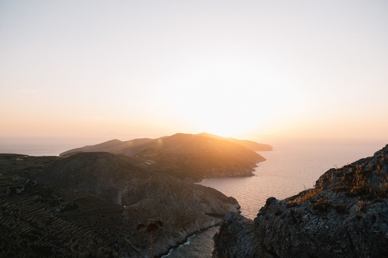 sunset from panagia at folegandros