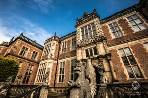 Crewe Hall wedding photographer image of venue building exteri