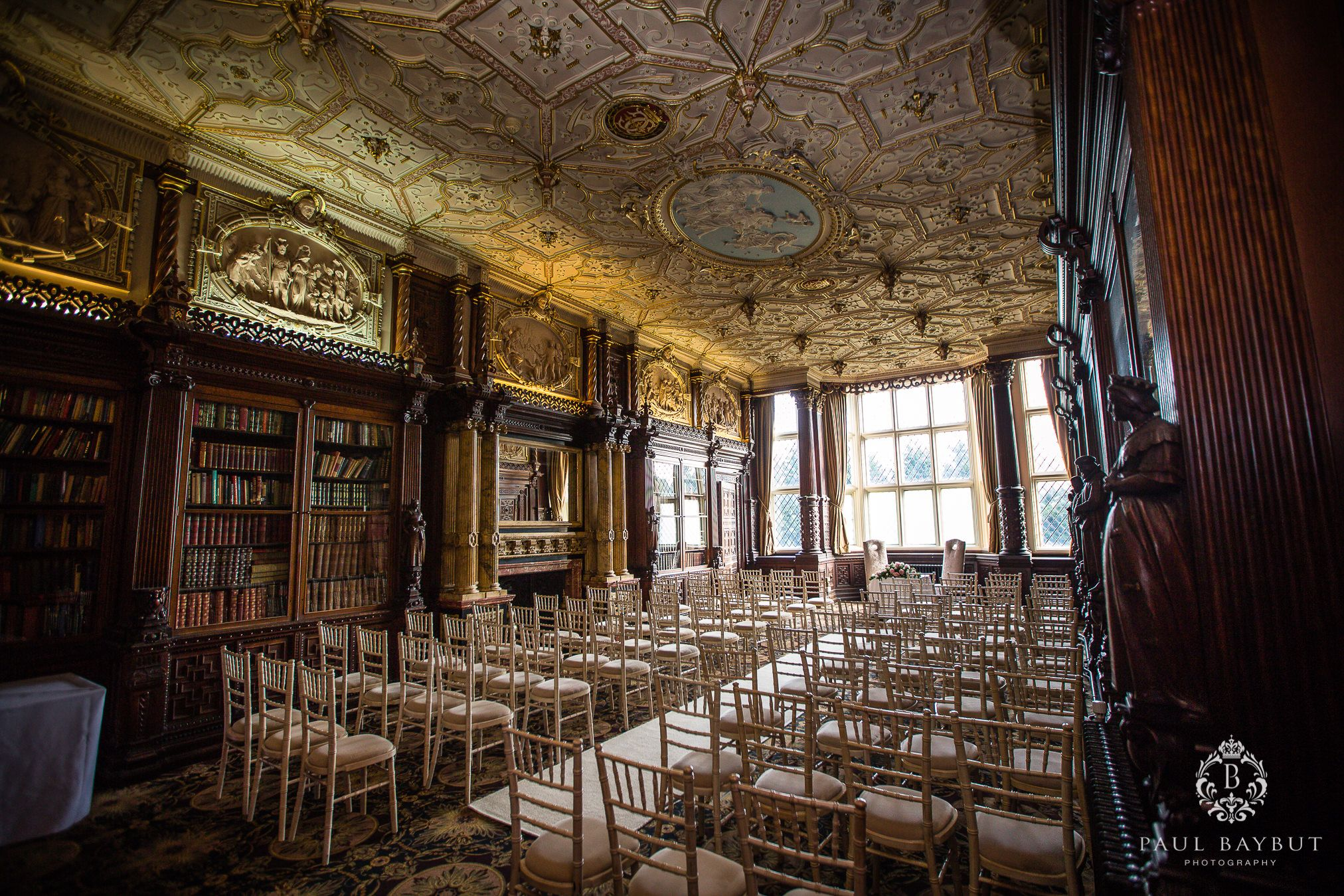 Crewe Hall wedding venue interior building detail