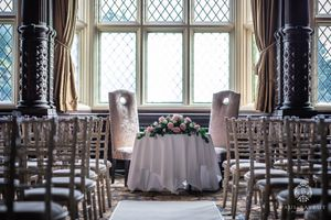 Crewe Hall wedding photography image of venue interior ceremony room detail