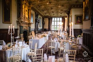 Crewe Hall wedding photography image of venue interior breakfast room detail