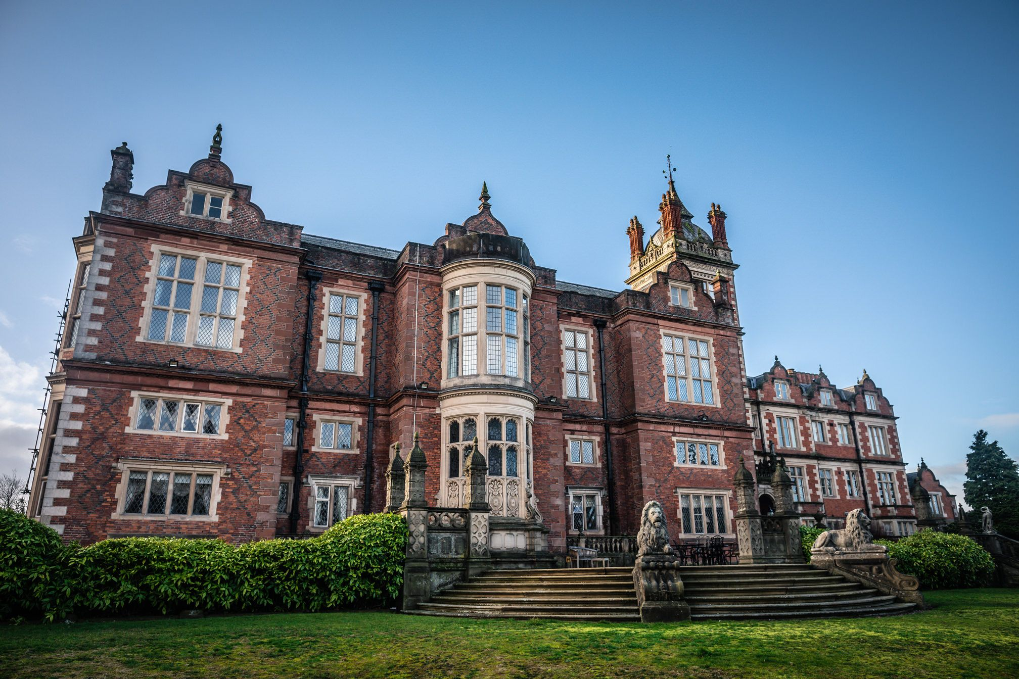 Exterior building of Crewe Hall wedding venue