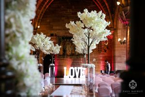 Peckforton Castle wedding photographer wedding photography of interior ceremony room detail