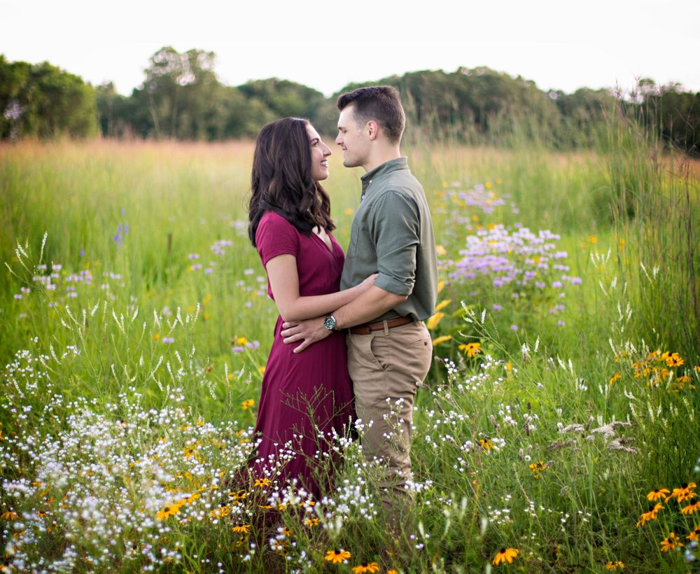 Belle Prairie Park engagement