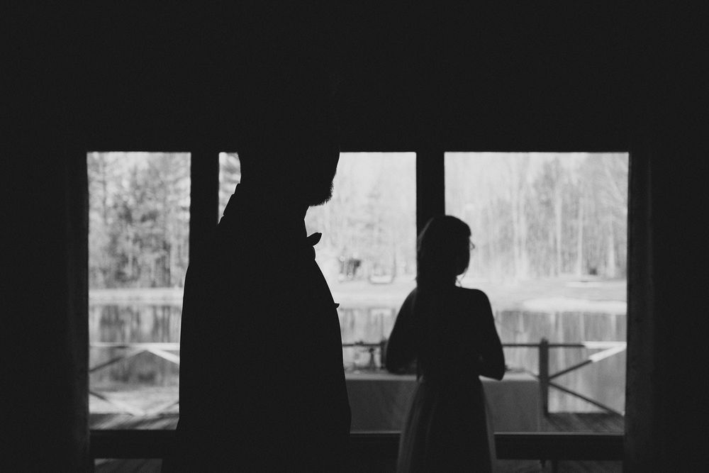 Kawartha Lakes Wedding Photographer near me black and white photography silhouette