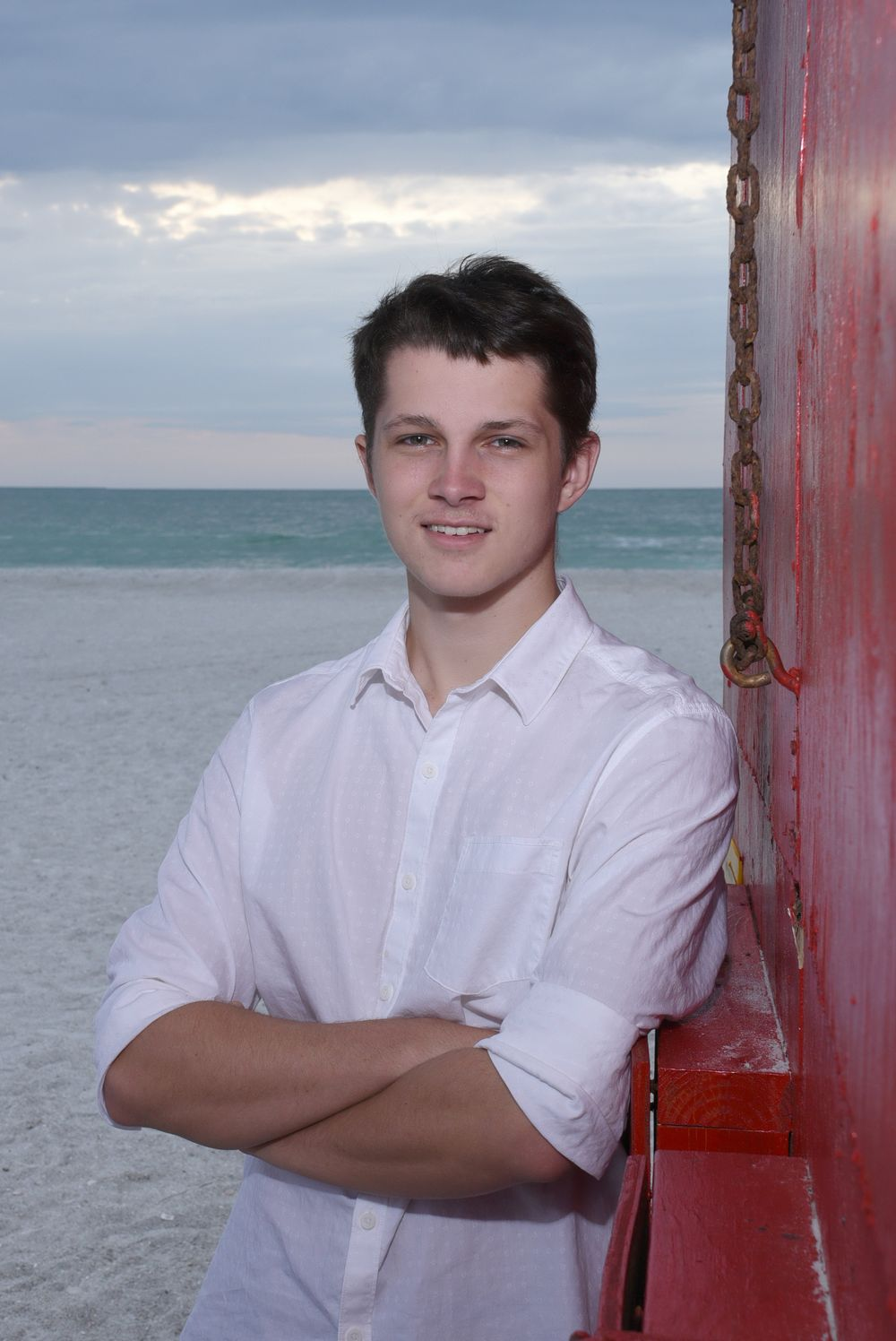 Male Senior photo Clearwater Beach, Fl by Kathleen Hall Photography