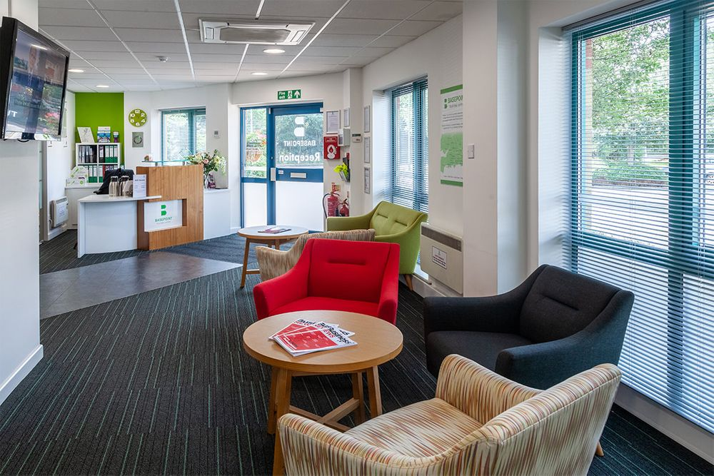 Photograph of Reception Area at Basepoint Havant