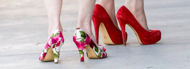 eclectic high heel shoes
