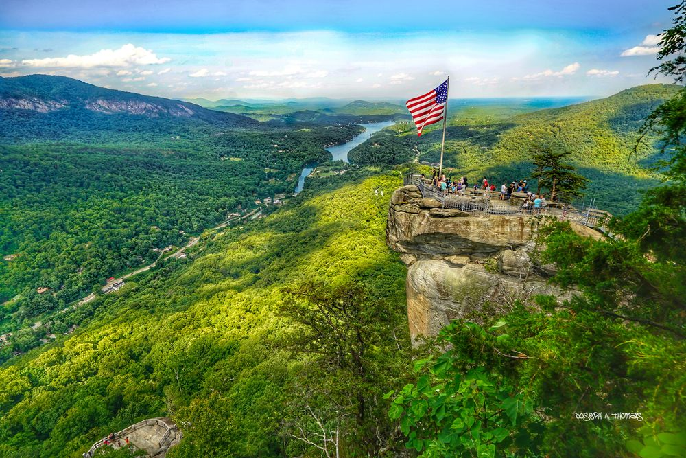CarolinaPhotoArt.com- Up to 50% Off Gallery Prints - Great Smoky Mountains / Blue Ridge Parkway - Chimney Rock Park