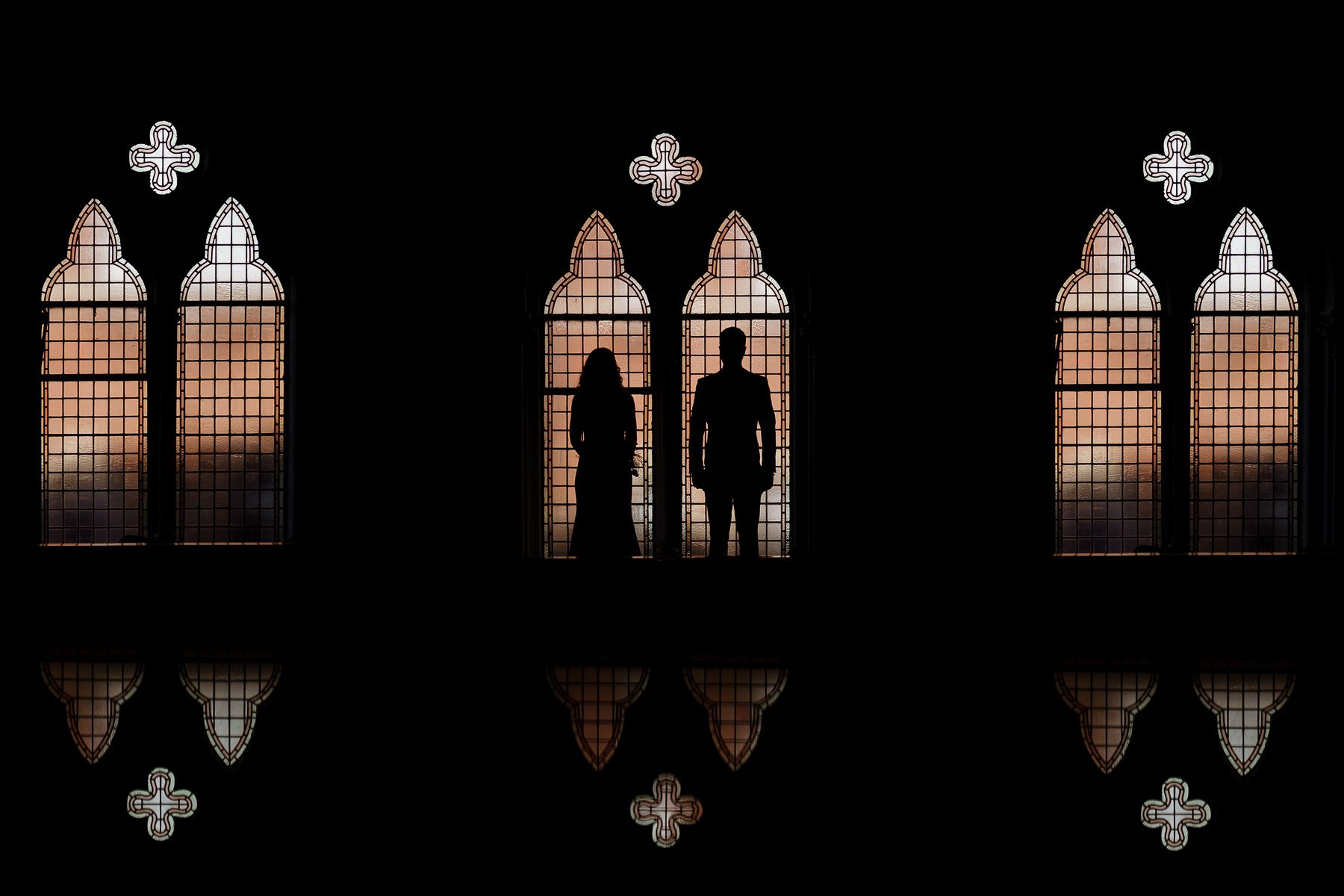 Creative silhouette wedding photography for introverts