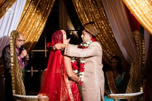 The Groom Adorns the Bride with a Necklace Called the Mangala Sutra