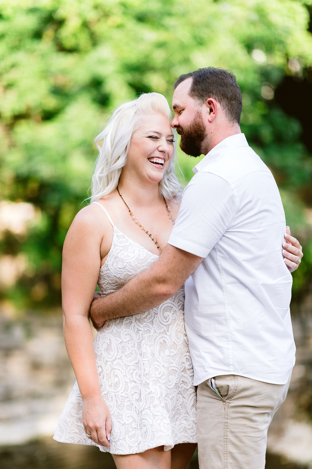 Elizabeth Couch Photography Prairie creek engagement photos waterfall dallas bride
