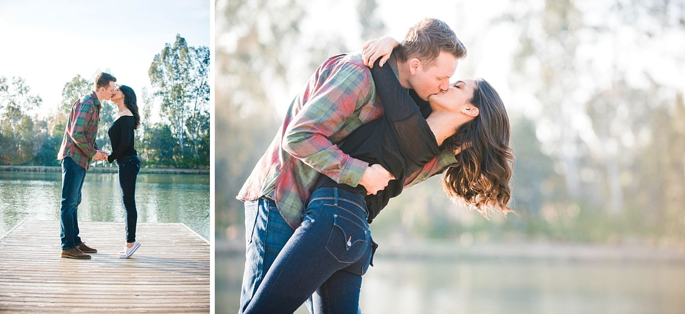 Central Valley California adventure engagement photography session