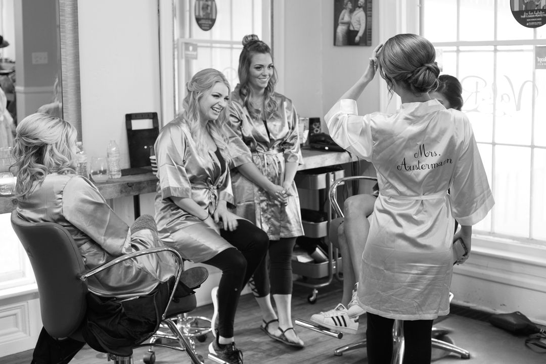 Valor Salon wedding hair makeup stylists oxford lake orion mi bridal party photography michigan local photographer