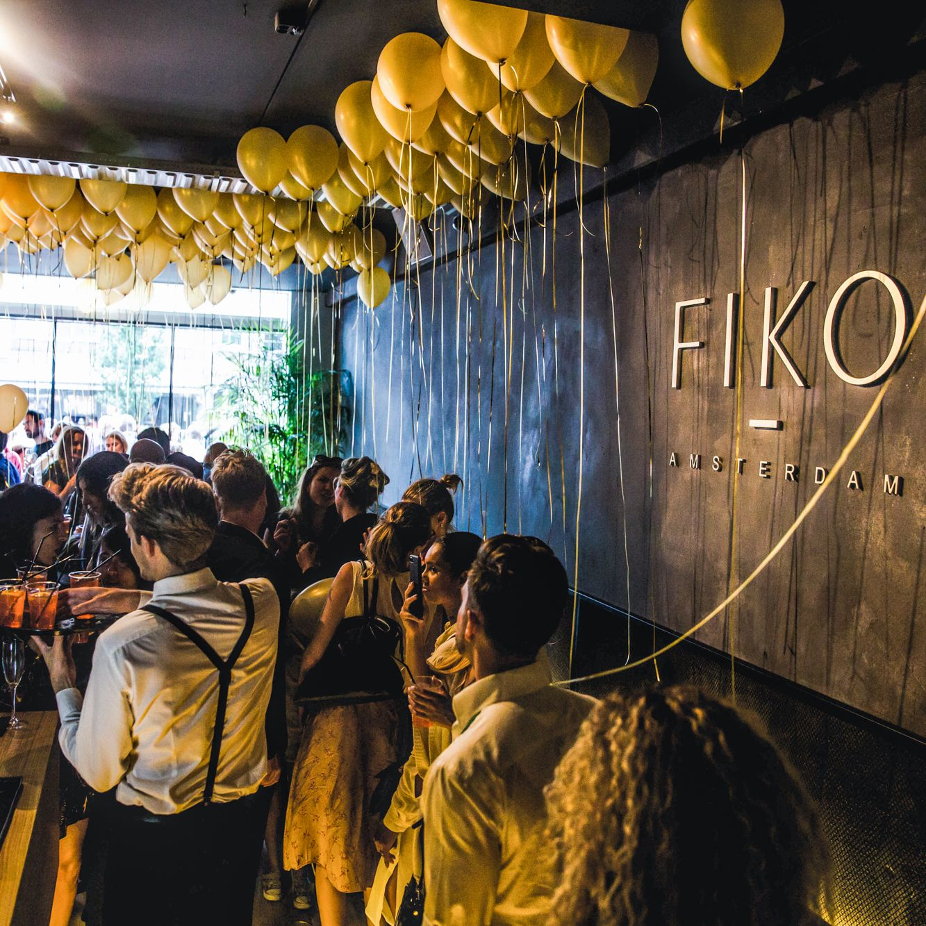 fiko italian restaurant food experience opening party