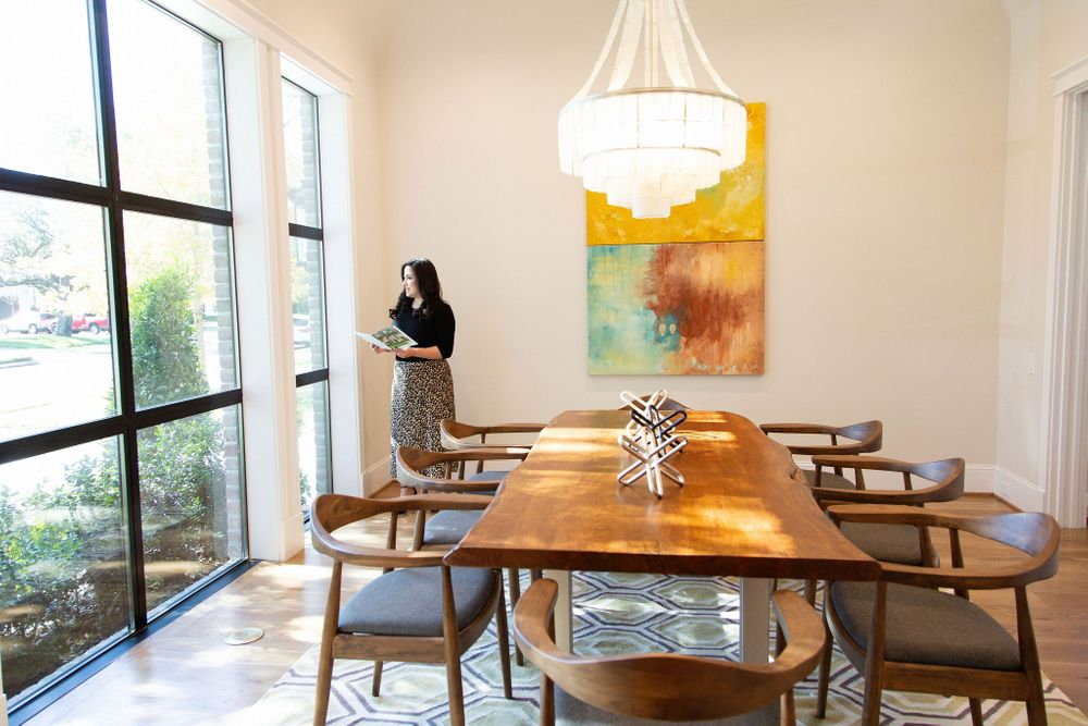Real Estate Agent Laura Miranda awaits her clients in River Oaks home in Houston Texas