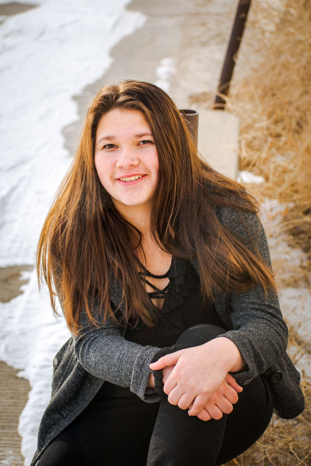 Wyoming Winter Senior Portraits Rock Springs