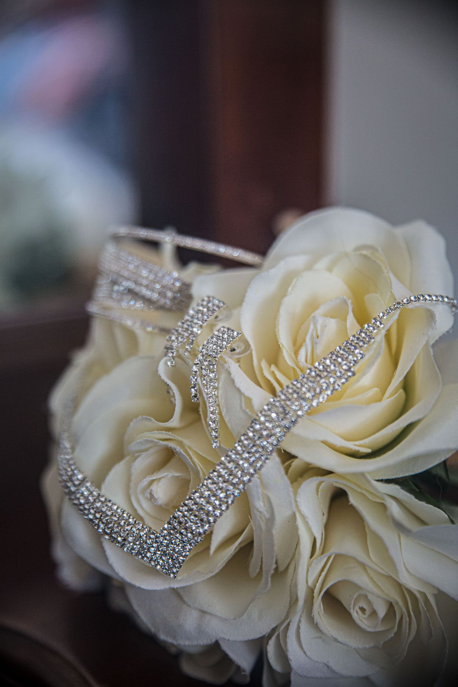 wedding bouquet with silver jewellery melbourne wedding photography