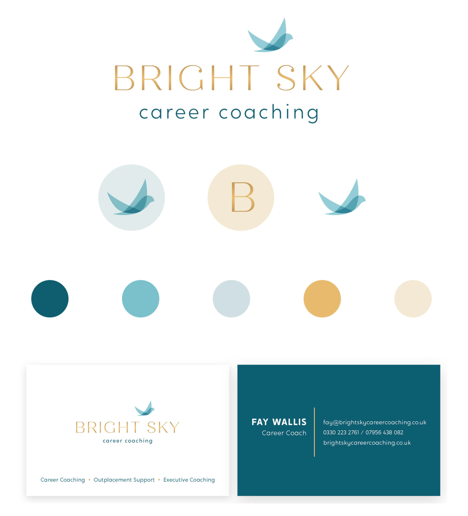 branding logo design bright sky career coaching