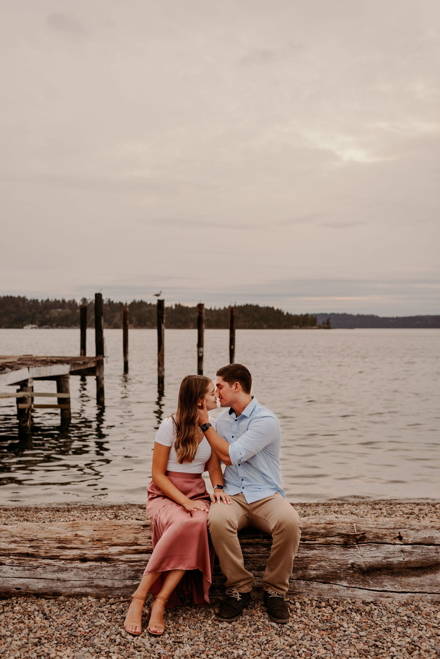 Saltar's Point Beach Engagement Photography