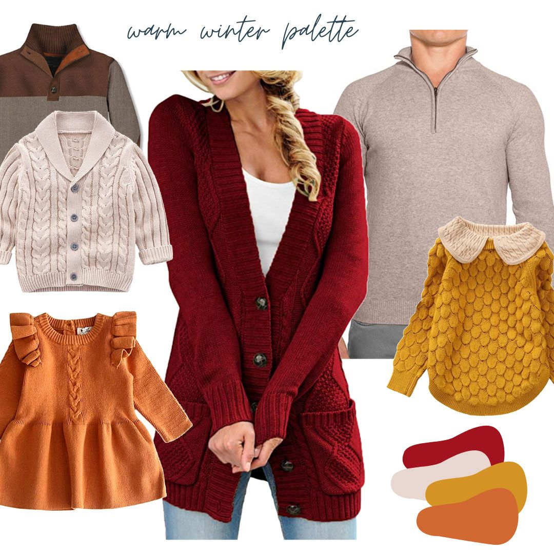 Warm Winter Palette Mood Board