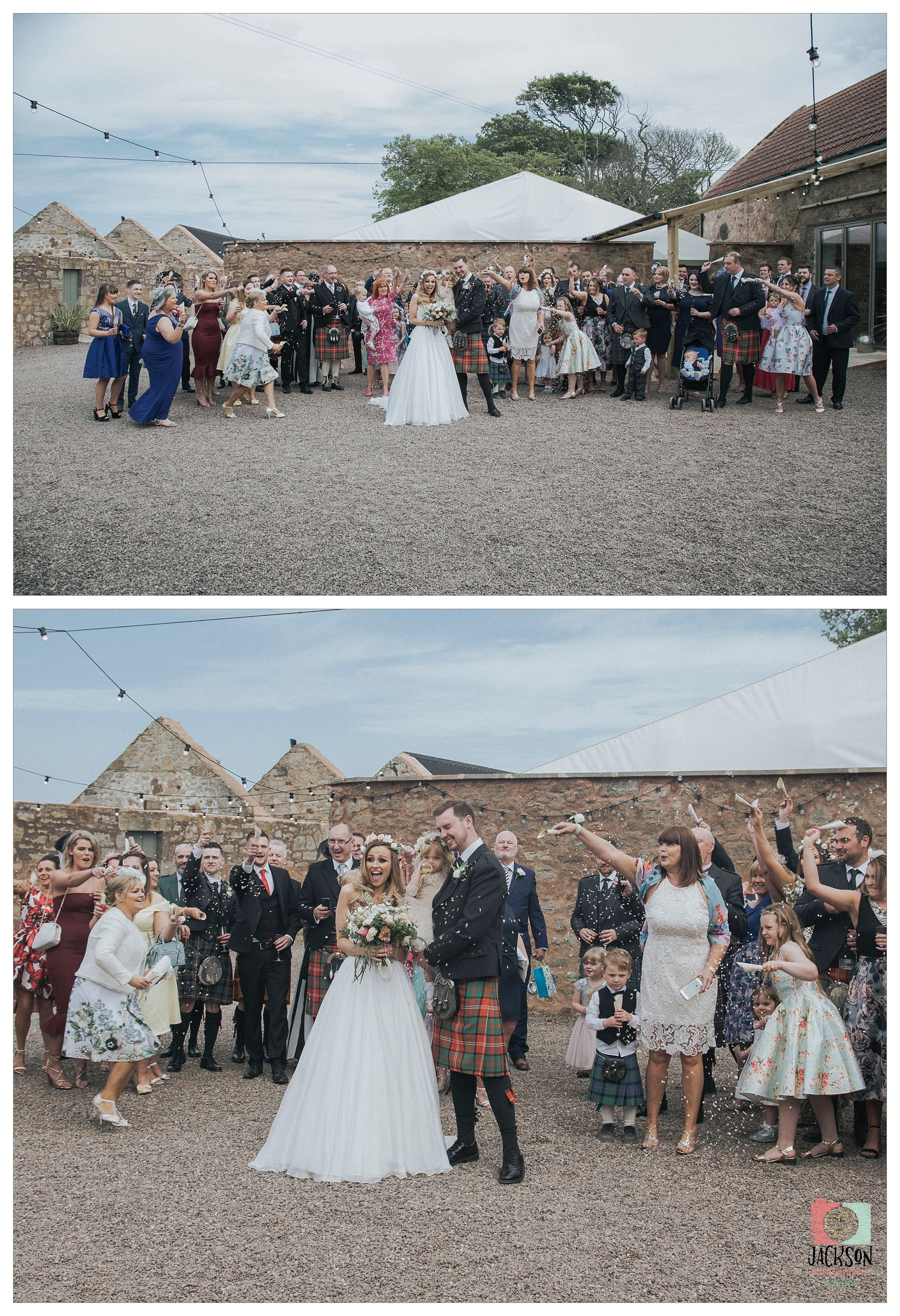 DIY barn wedding venue Fife photographer