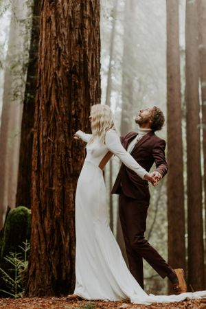 wedding elopement kendall aubrey photography california photographer santa cruz redwoods videography Bay Area