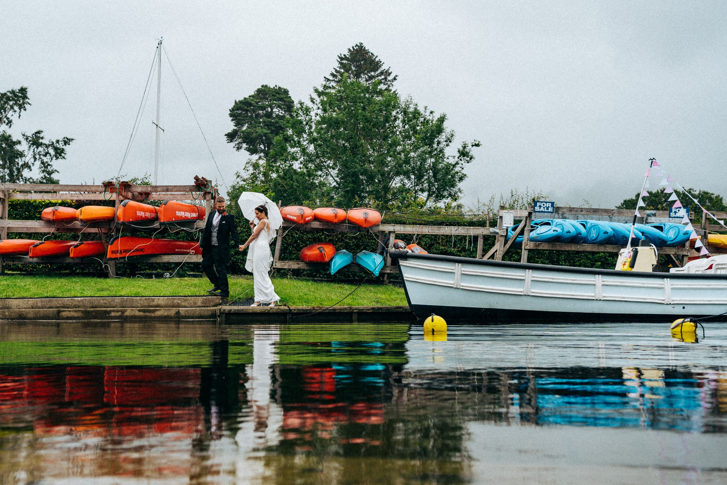 Boat Ride Wedding Photography Lake District