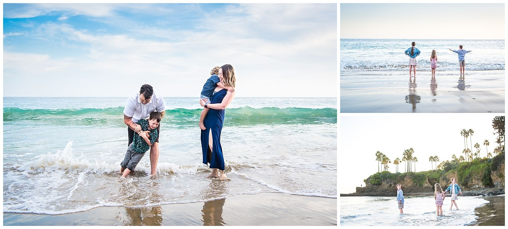 Lifestyle family photograph in Laguna Beach, CA