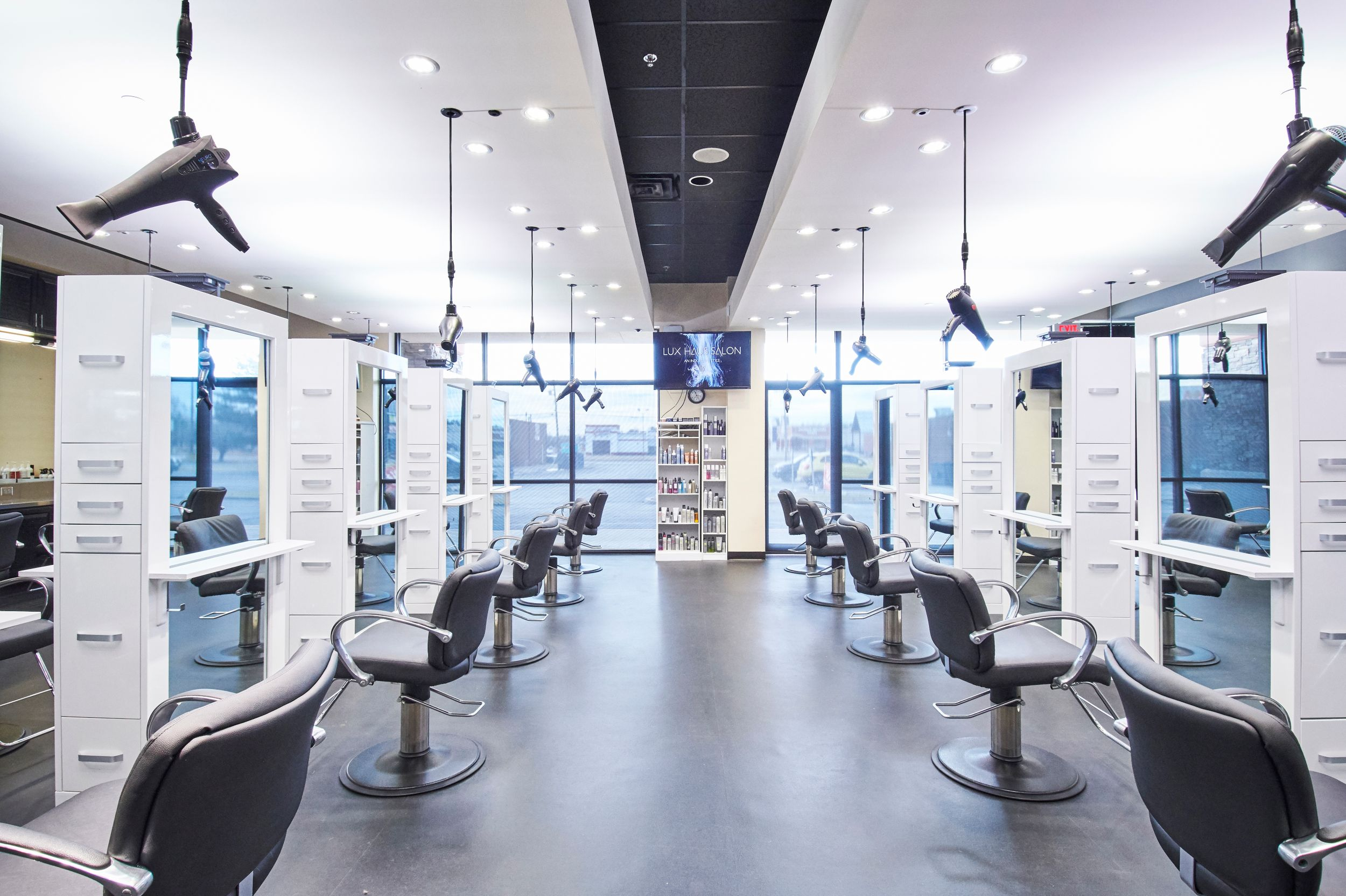 Salon Hairstyling Area Interior