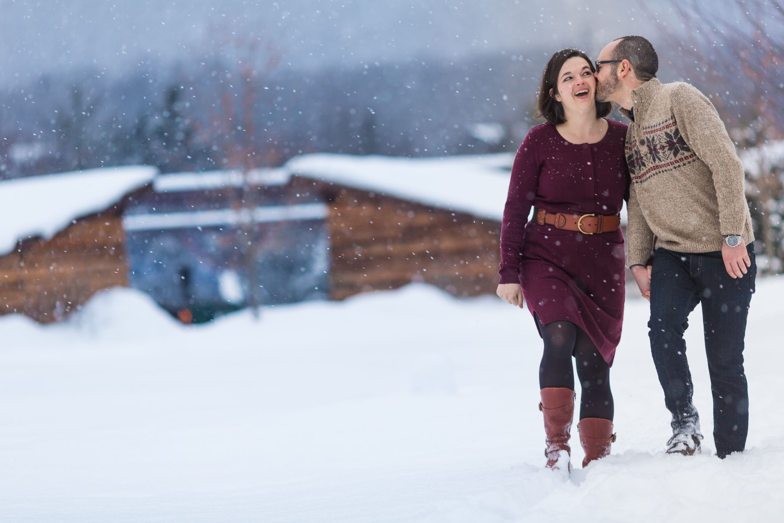 Engagement Photography at Whiteface Lodge Lake Placid Lodge NY