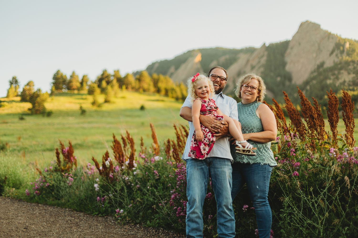 Family Photography Session at Chautauqua Park in Boulder, Colorado by Natalie Dyer Photography.