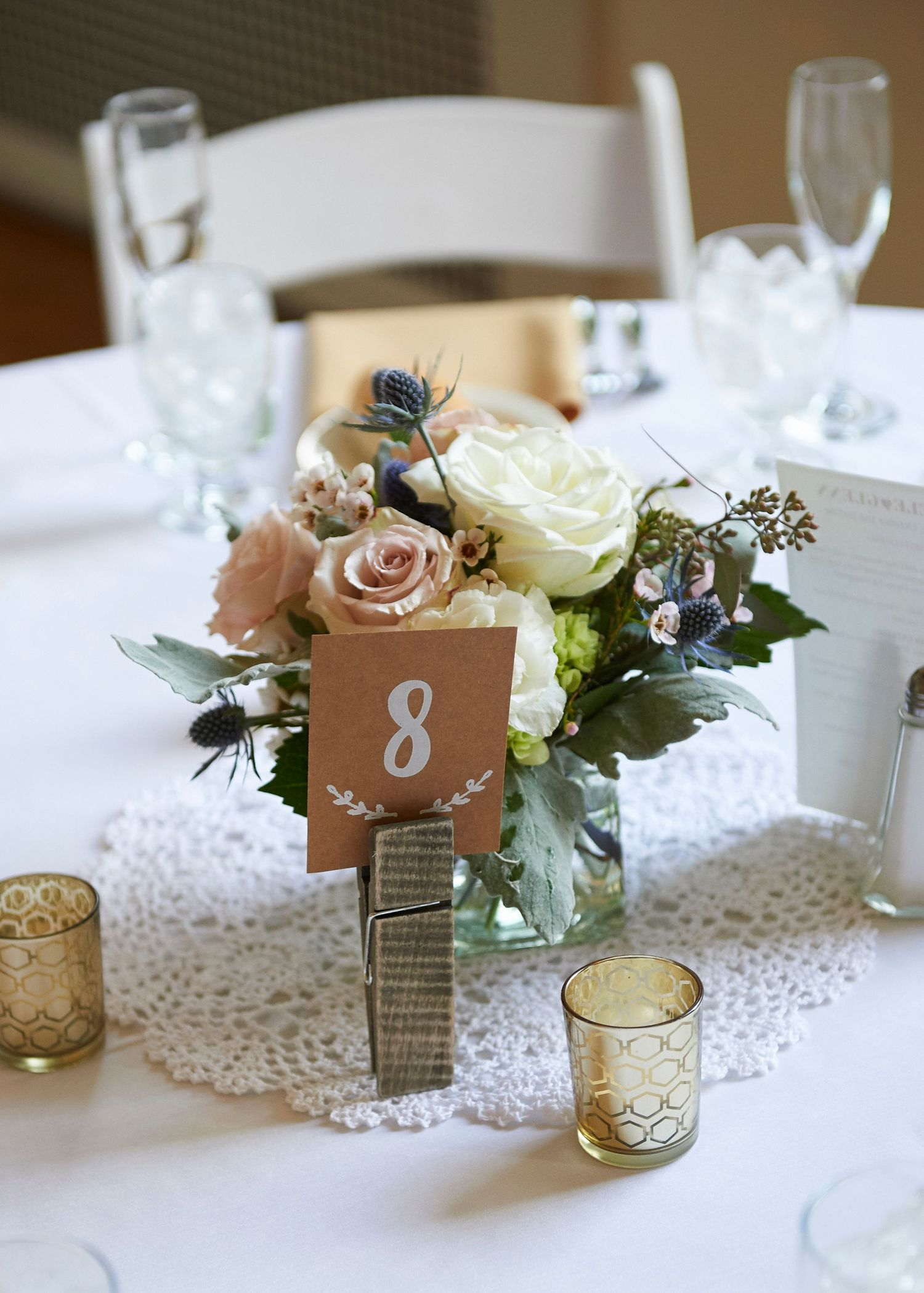 table arrangement at Colonial Dames in Philadelphia