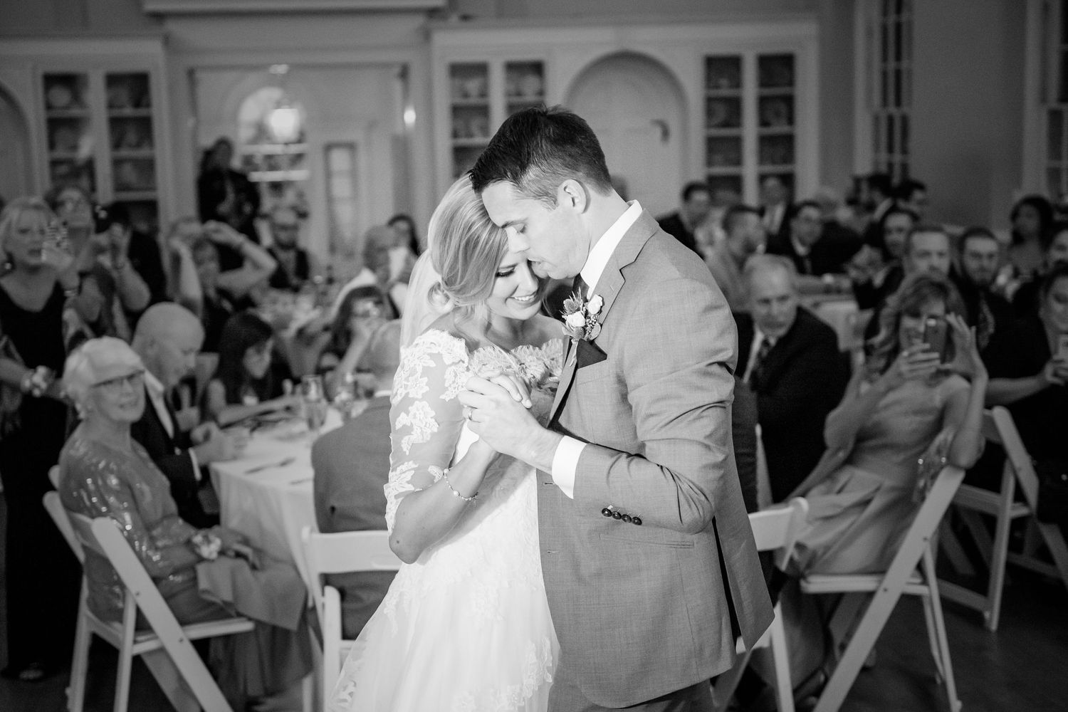 bride and groom first dance at Colonial Dames in Philadelphia