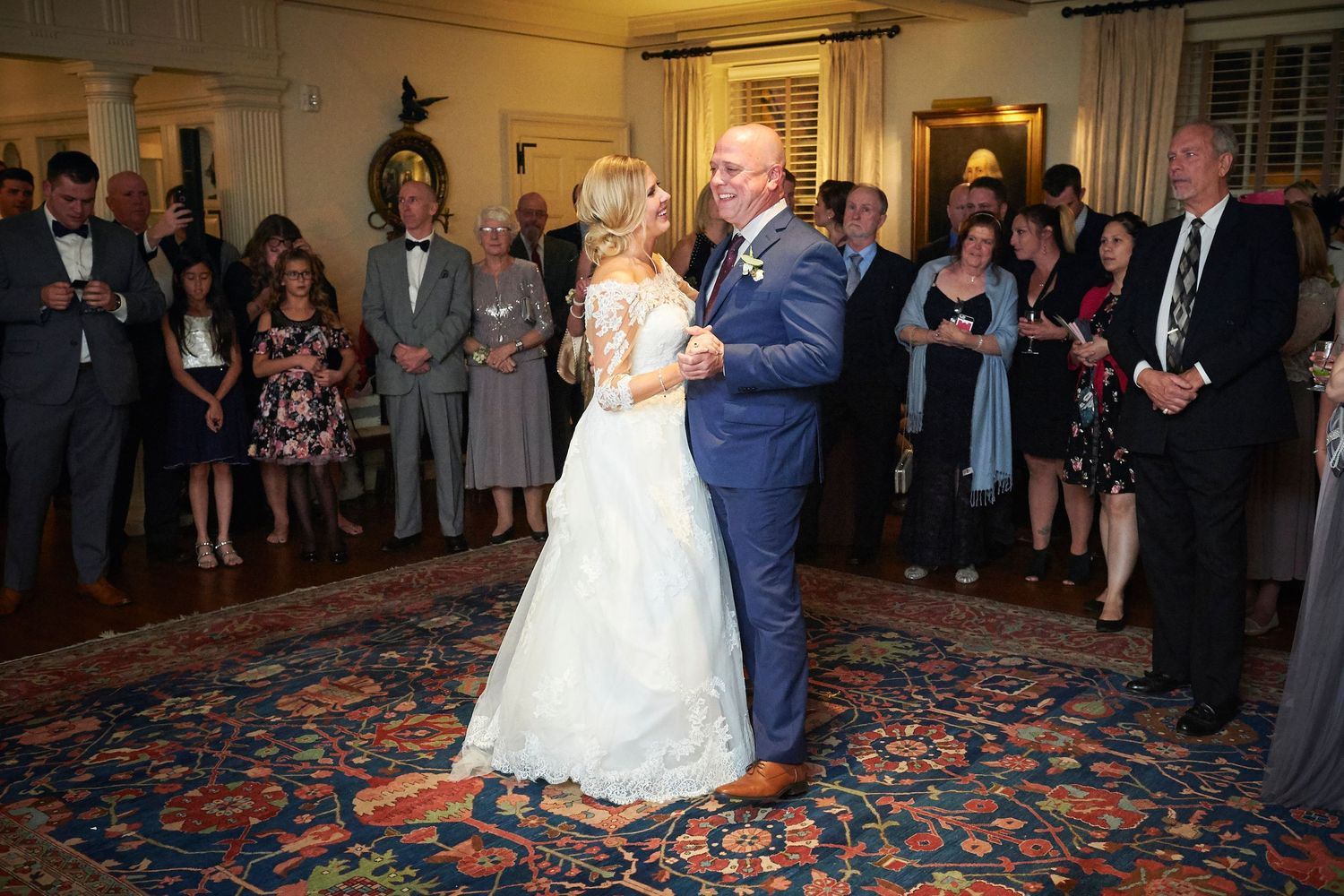 father daughter dance at Colonial Dames in Philadelphia