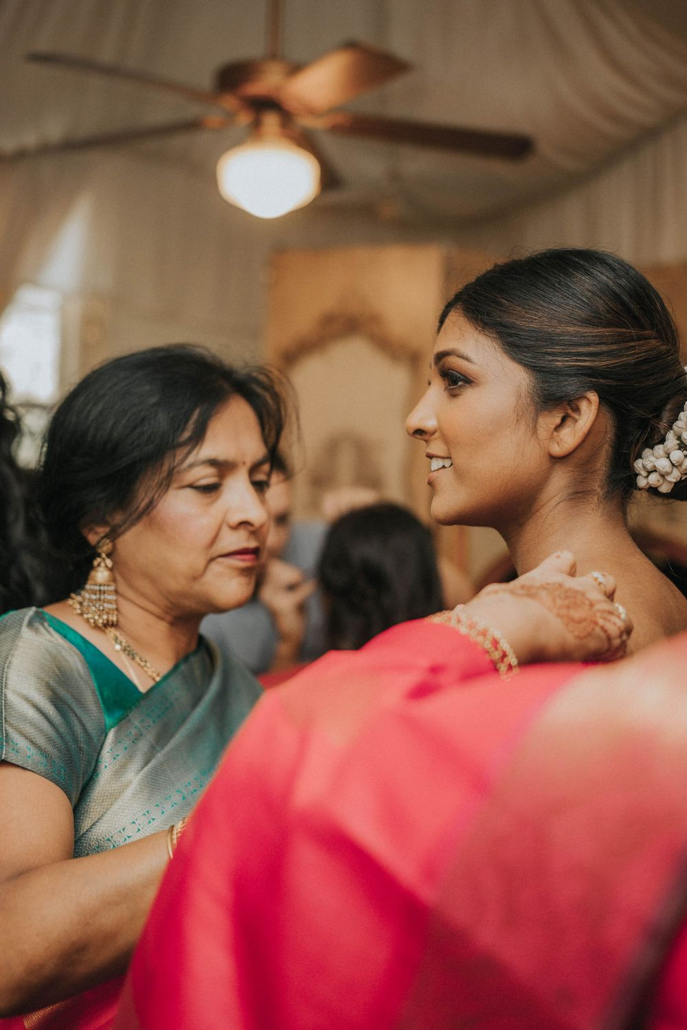 rebecca skidgel photography grand island mansion indian wedding bride getting ready