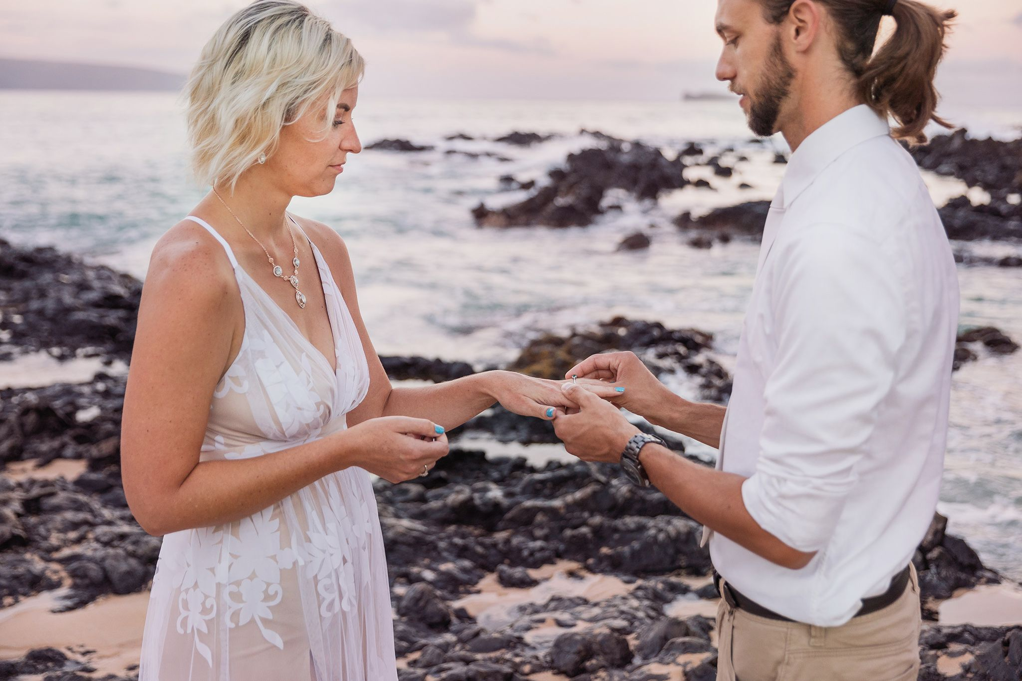 intimate maui wedding