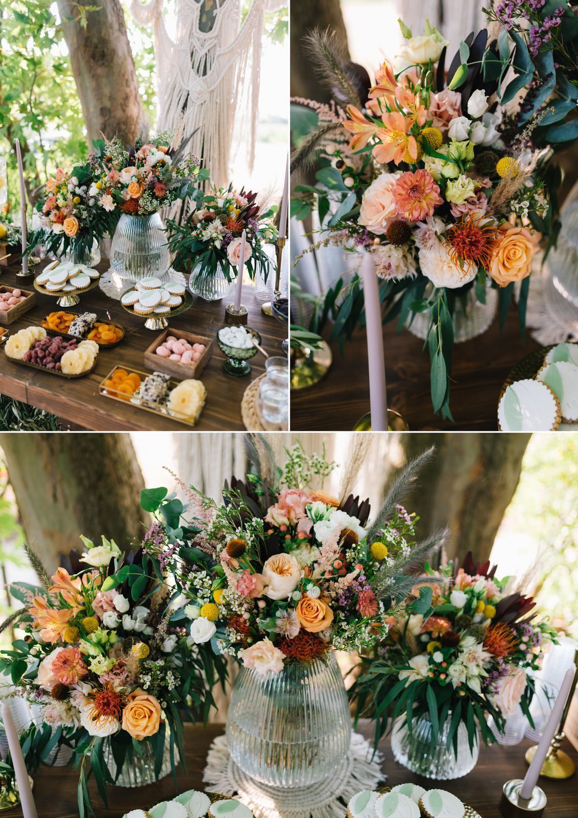 wedding decoration at velventos with flowers
