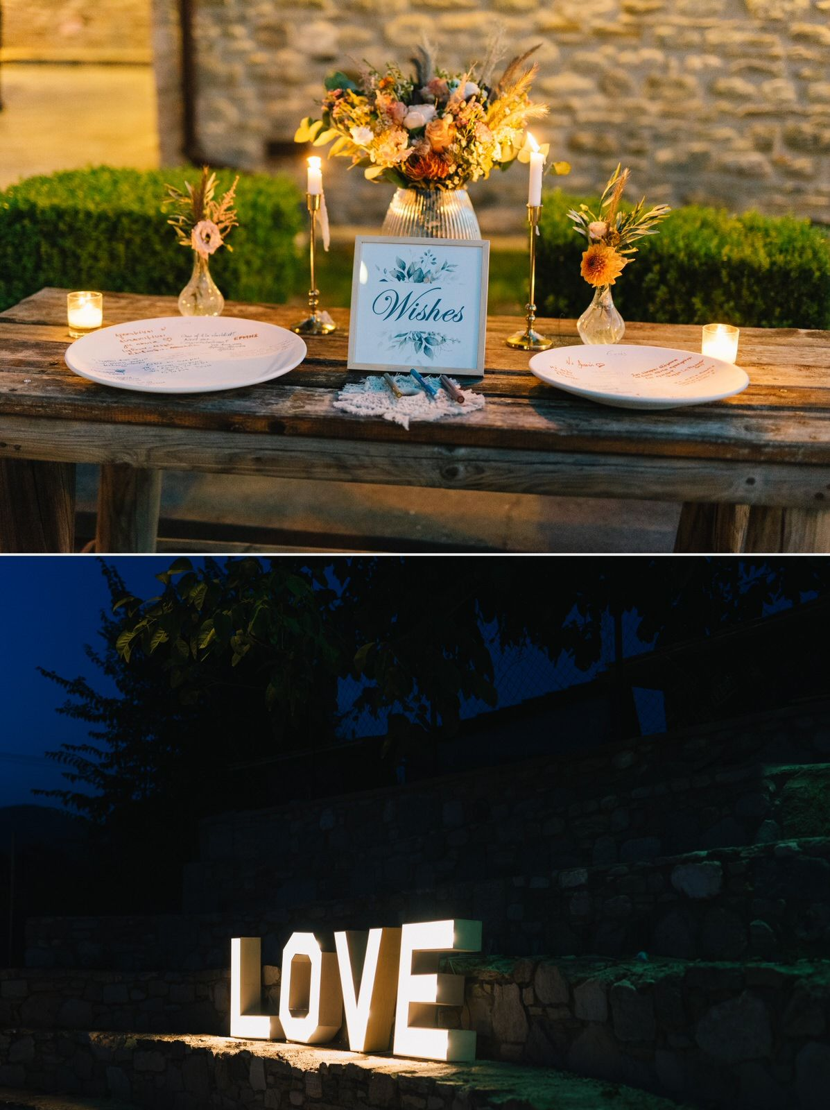 wedding decoration and love letter