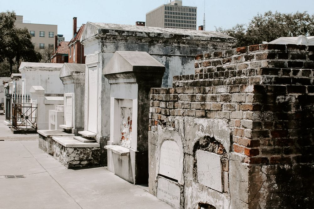 exploring St. Louis cemetery during French Quarter Elopement