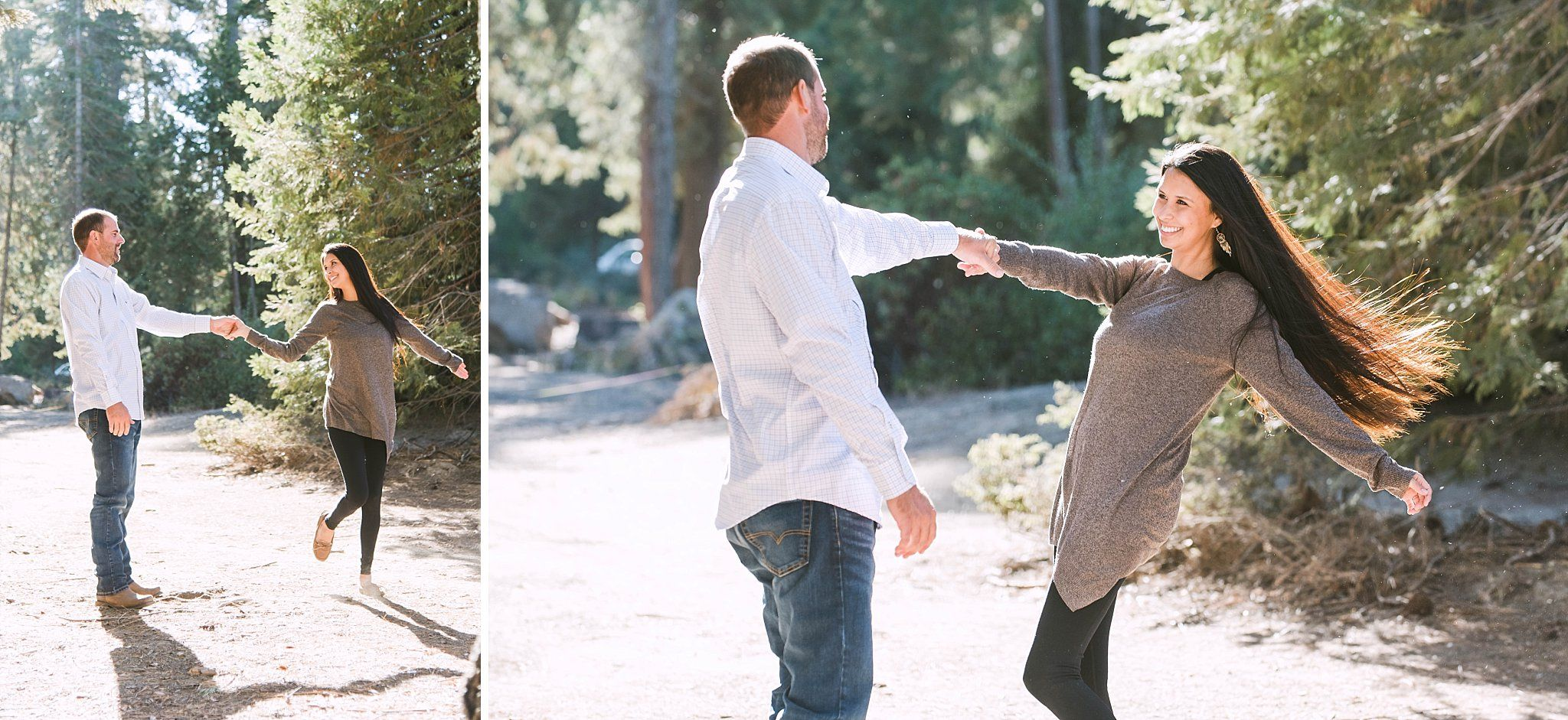 shaver lake California adventure engagement photography session