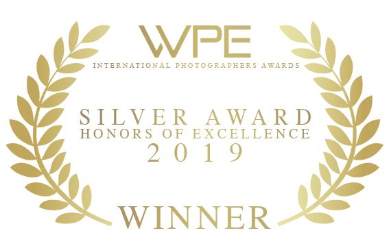 WPE international photographers awards silver award given to Faye Amare Photography in 2019