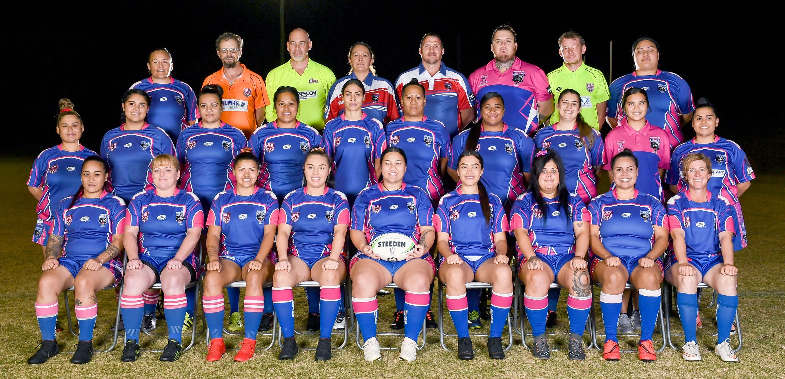 Womens rugby league team photo