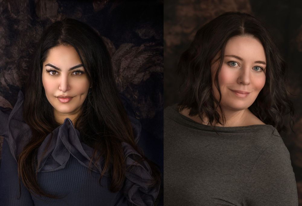 Studio headshots of Award winning and PPOC accredited photographers Ammara Crittenden and Tamara Taylor
