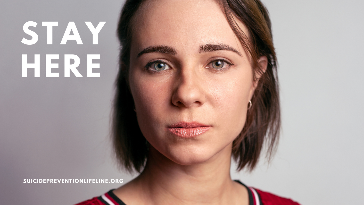 female ad billboard for suicide prevention USA