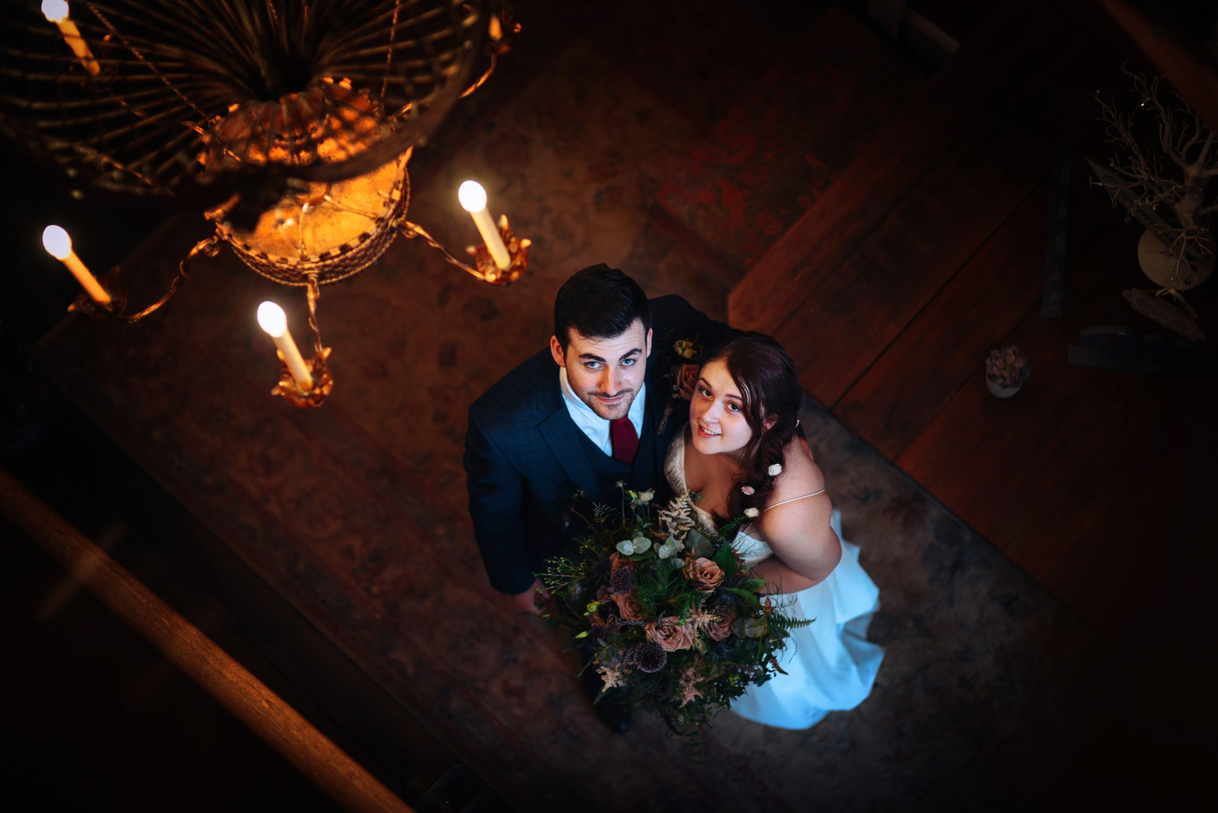 Zara Davis Wedding Photography Frome Town Hall Charlton House Hotel Somerset Gloucestershire Cotswolds Looking up