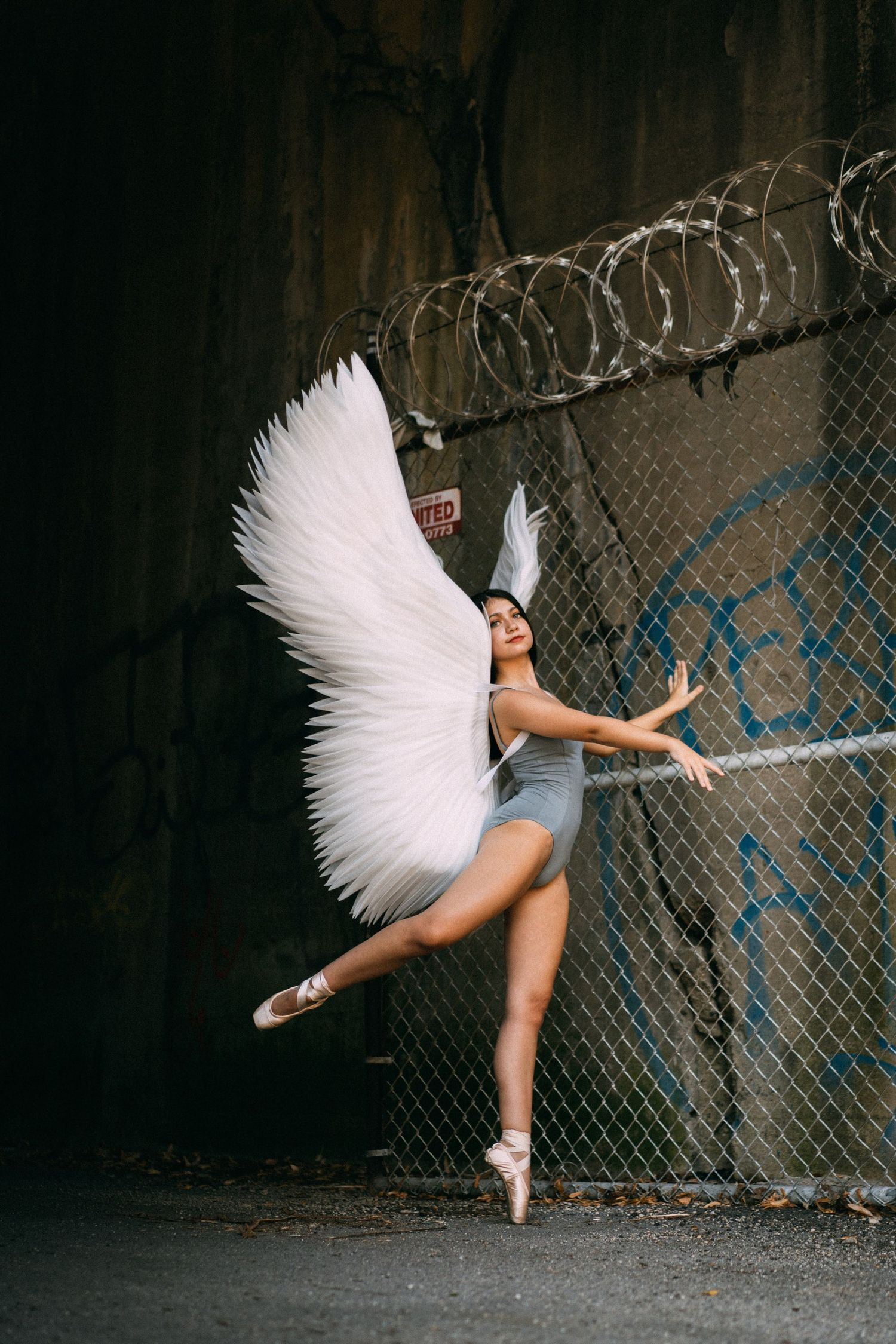 chicago ballerina ballet angel wings photography